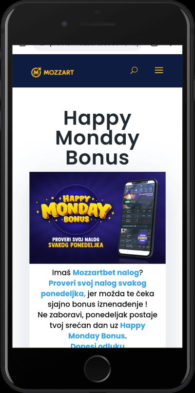 Mozzart happy monday bonus